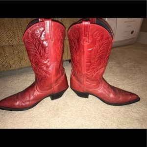 Acme Leather Western Boots